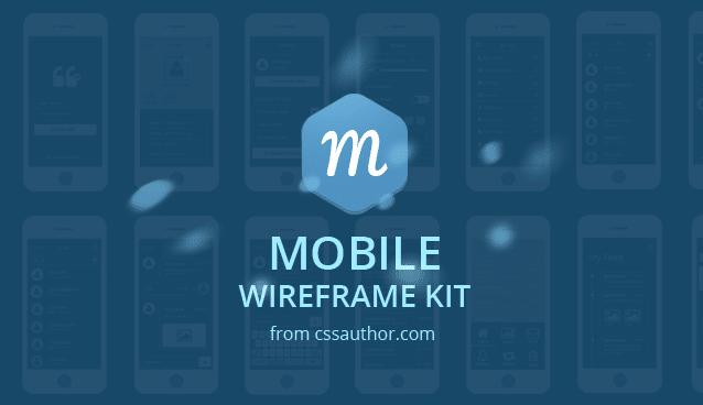 Mobile Wireframe Kit PSD - cssauthor.com