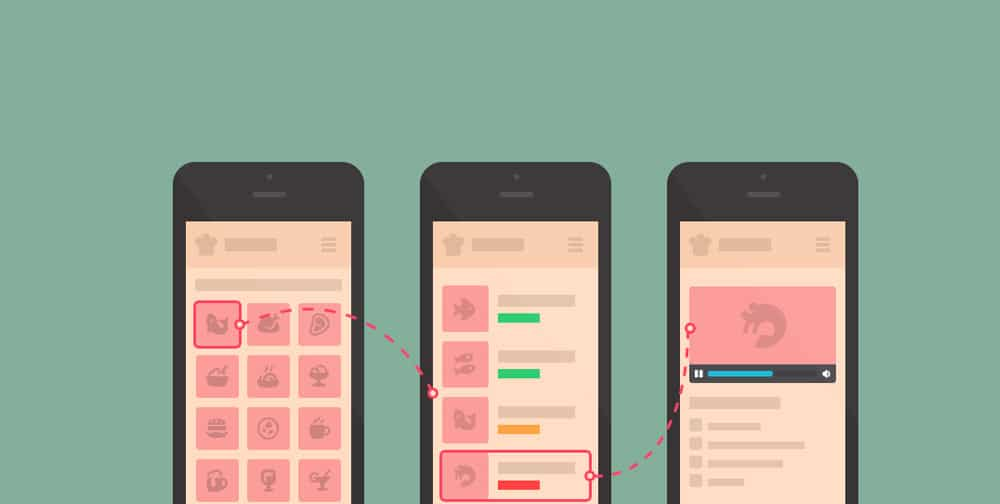 Mobile iPhone Cooking App Wireframe PSD