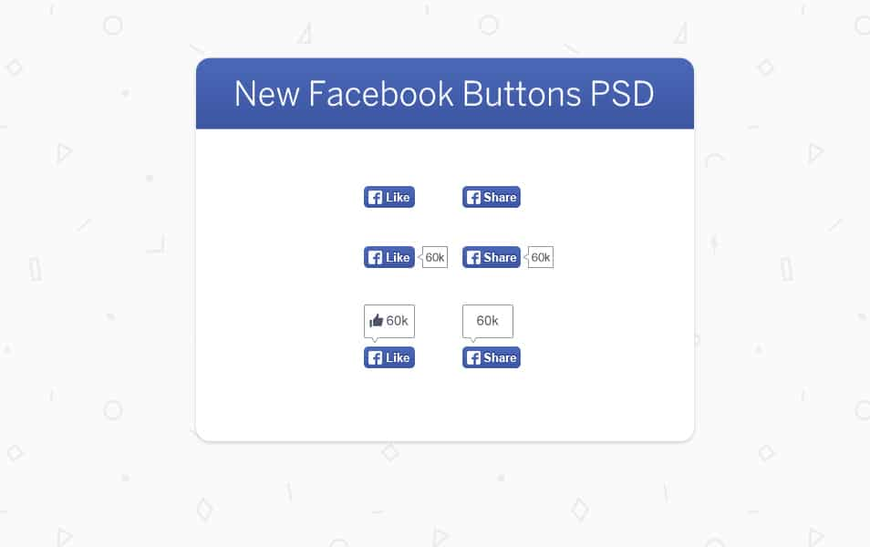 New Facebook Buttons