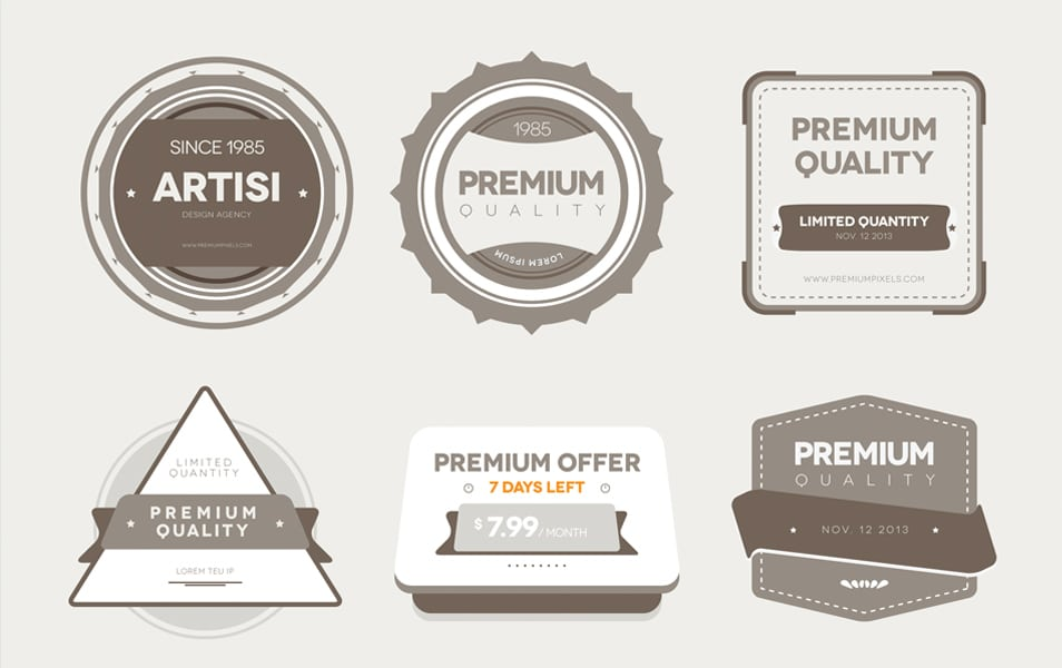 Premium Quality Badges (Vector)