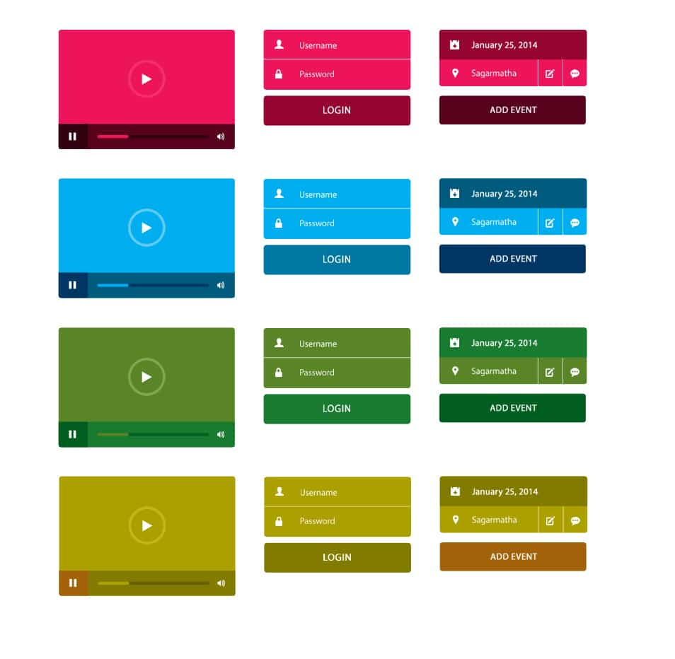 Small UI Kit PSD