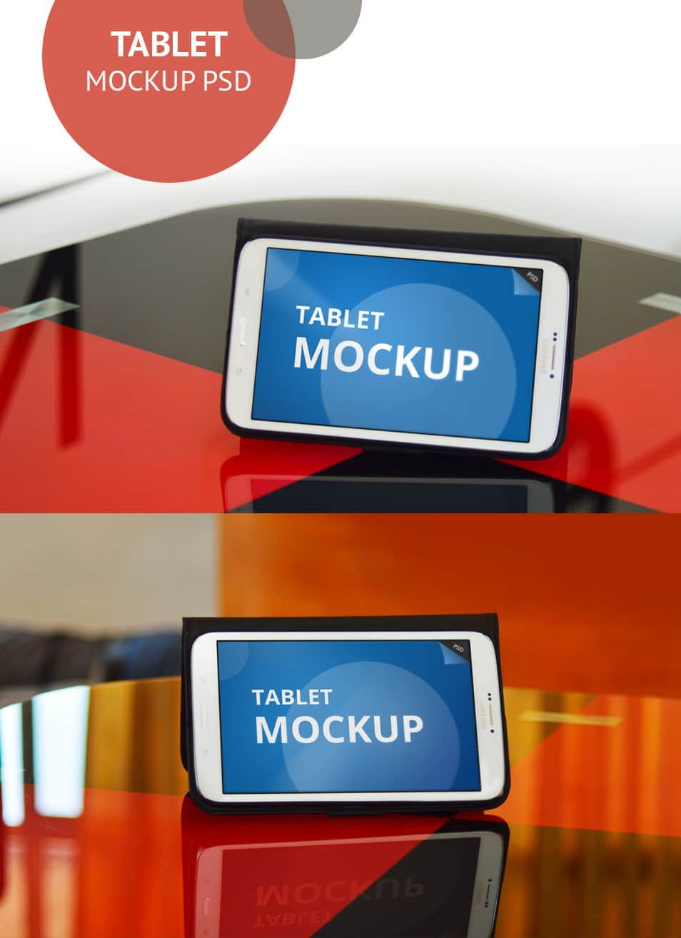Tablet Mockup PSD - cssauthor.com