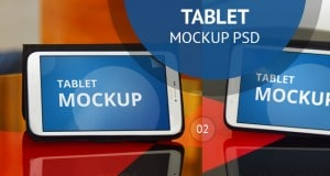 Tablet Mockup PSD – Freebie No:138