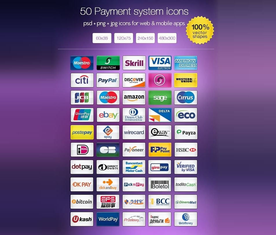 The Payment System Icon Set