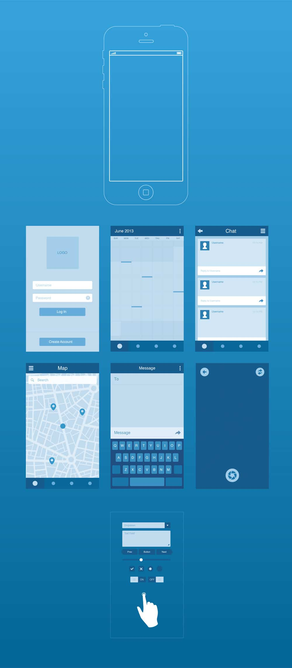 UI8 Wireframe Kit