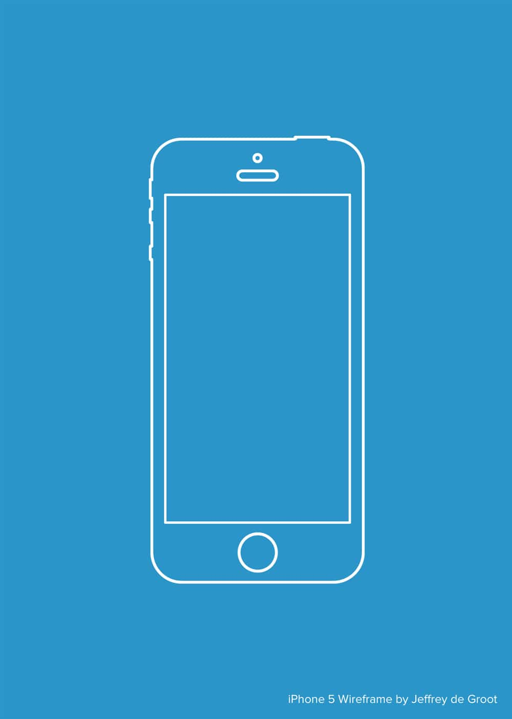 Vector iPhone 5 Wireframe
