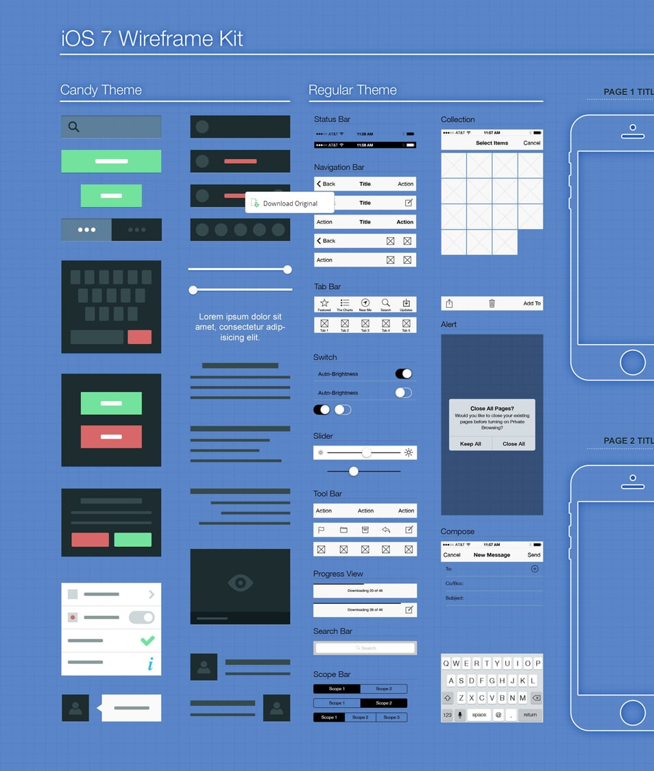 iOS7 Wireframe