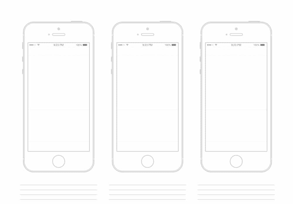Latest collection of iphone wireframe psds wireframes for Storyboard template app