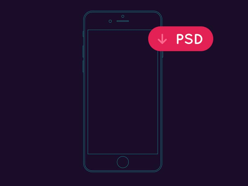 iPhone Outline Mockup PSD