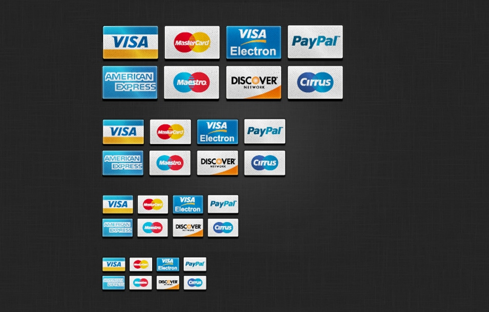 web 2.0 credit card icons psd