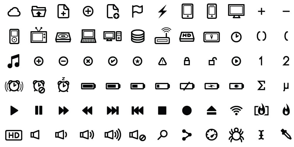 100 Free UI Vector Icon Set