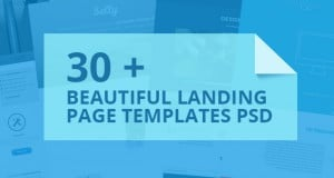 30 +Beautiful Landing Page Templates PSD