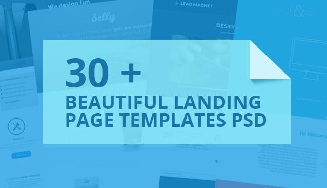 30 +Beautiful Landing Page Templates PSD