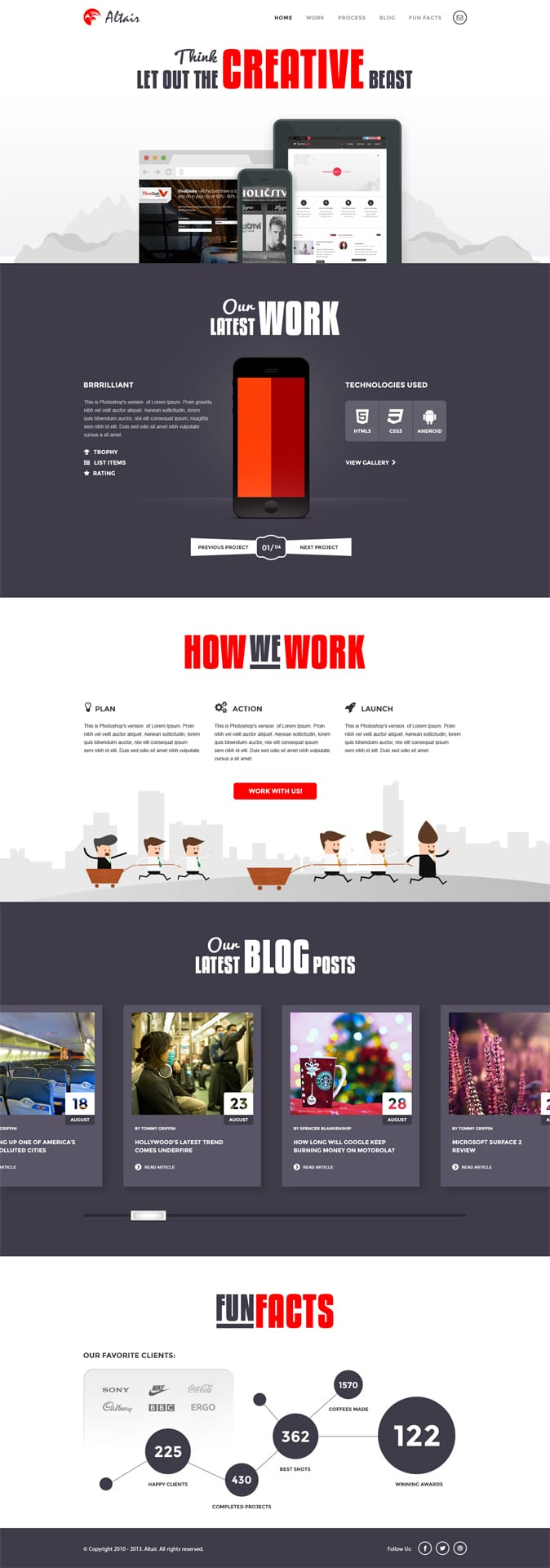 Altair Free PSD Template