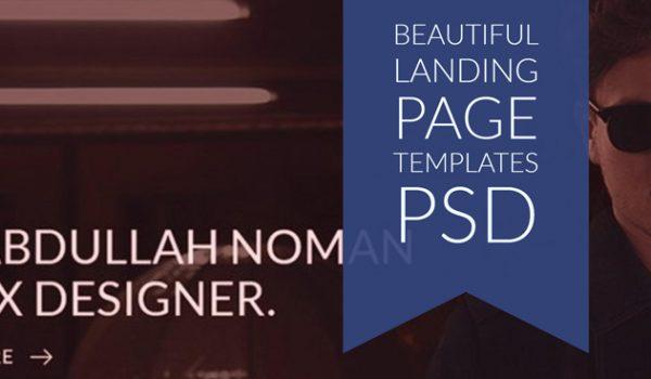 Beautiful Landing Page Templates PSD