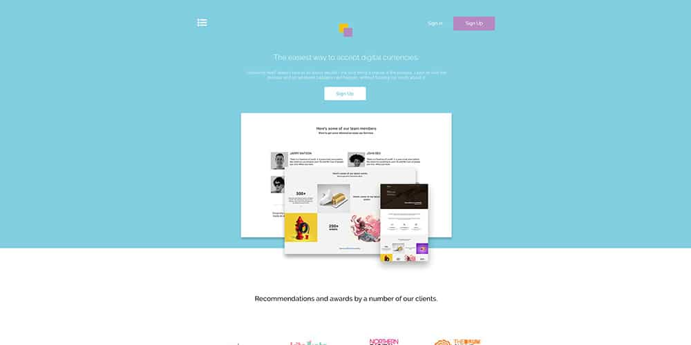 CLand Landing Page Template PSD
