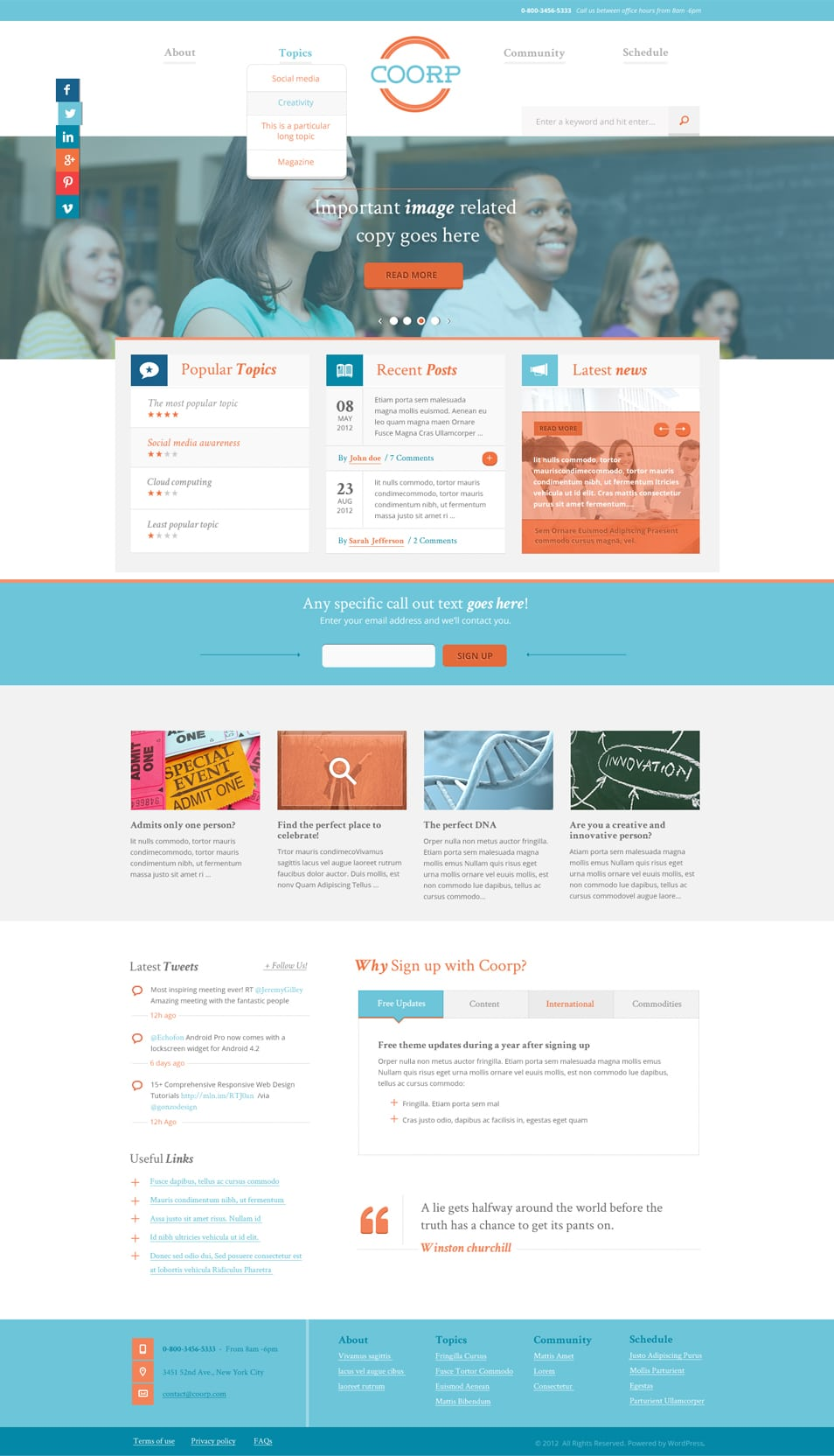 Coorp - Free PSD Template
