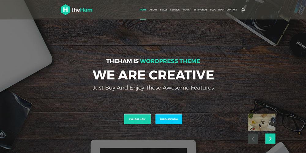 Creative Landing Page Web Template PSD