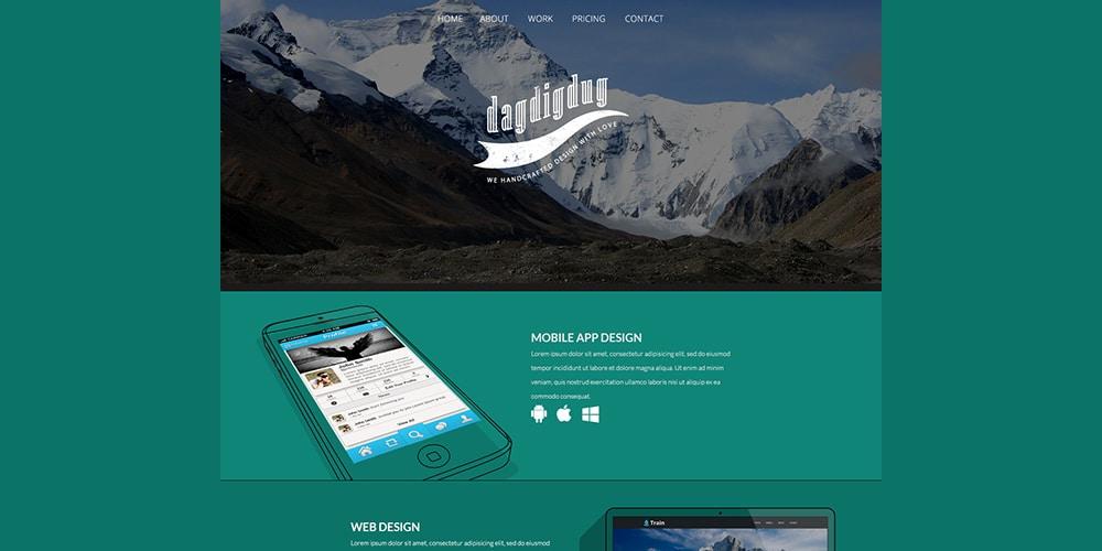 Dagdigdug Landing Page PSD