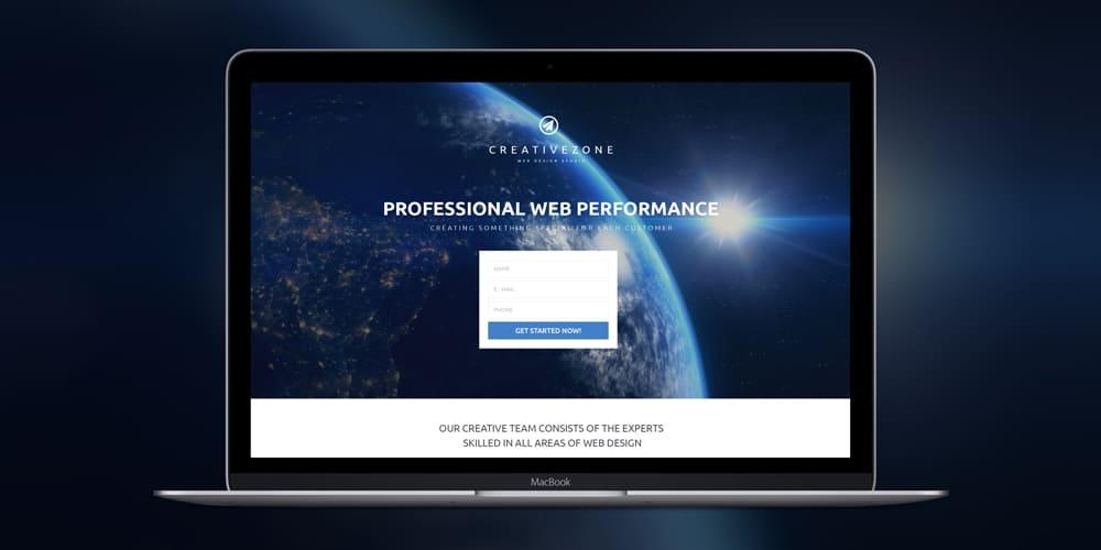 Design Studio Free Landing Page Template PSD
