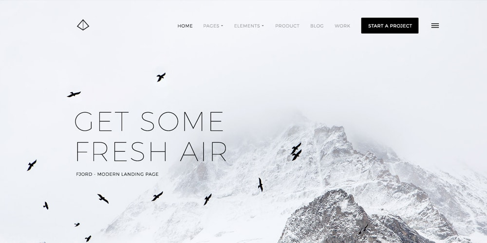 Fjord Free Landing Page PSD