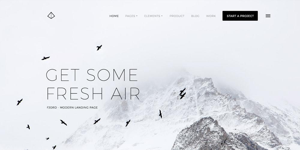 Fjord Free Landing Page PSD