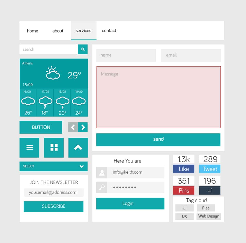 Flat Style UI