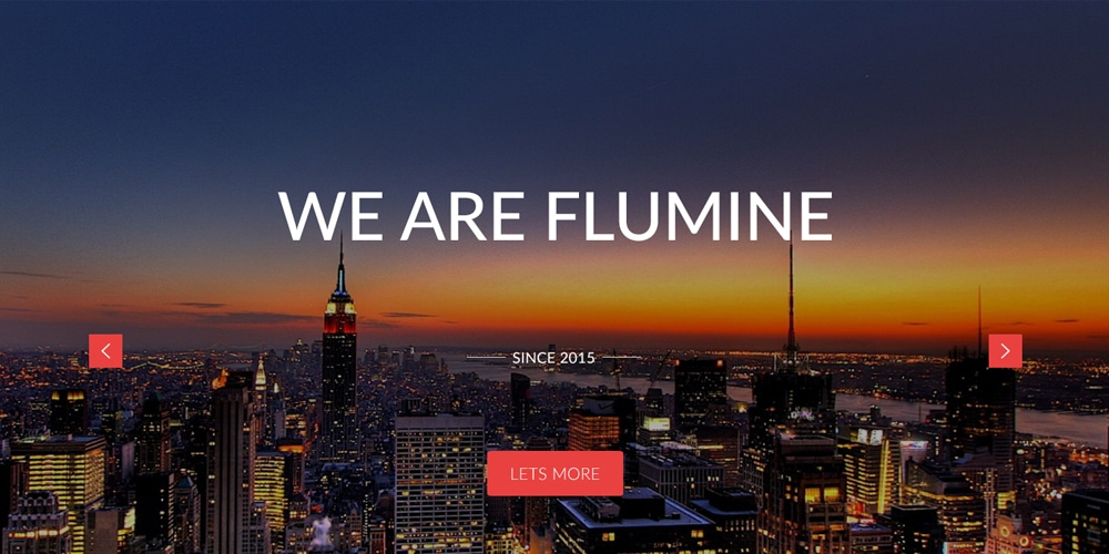 Flumine Free Multi Purpose Landing Page Web Template PSD