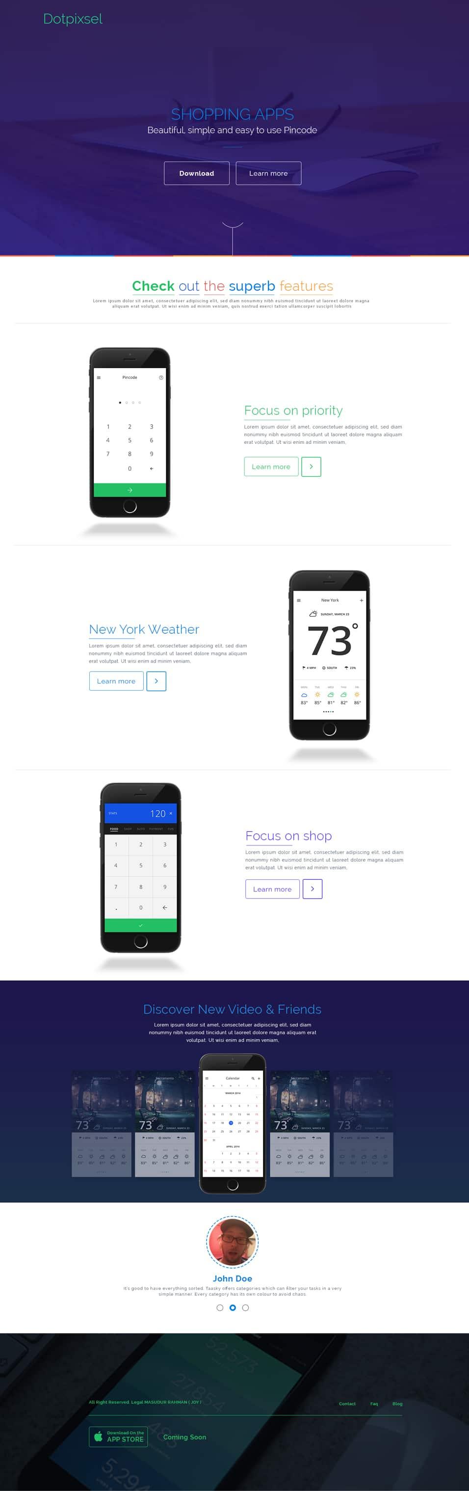 Free-App-Landing-Page-PSD