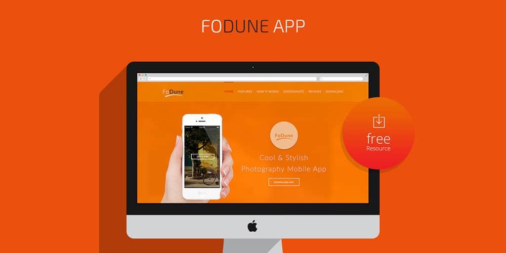 Free App Landing Template PSD