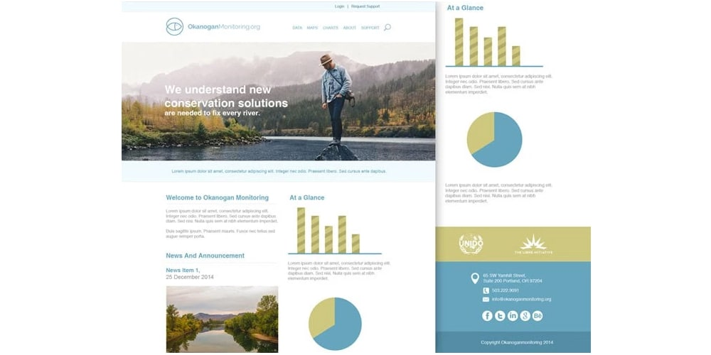 Free Company Landing Page Template PSD