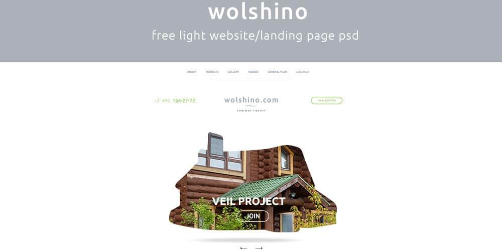Free Landing Page PSD