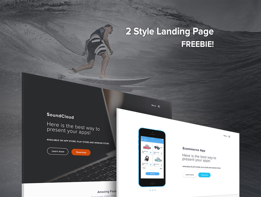 Free Landing Page Templates PSD