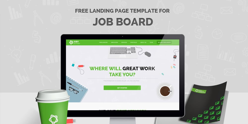 Free Landing Page Web Template PSD