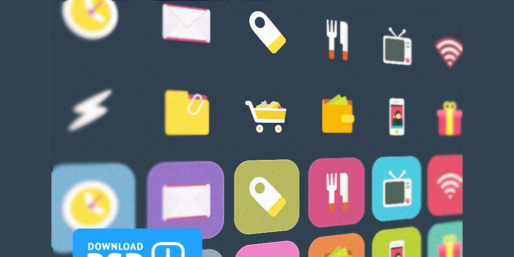 Free Set Colorful Ficons Icons