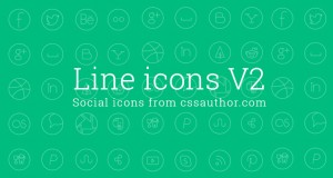 Free Social Media Line Icon Set – Freebie No:139