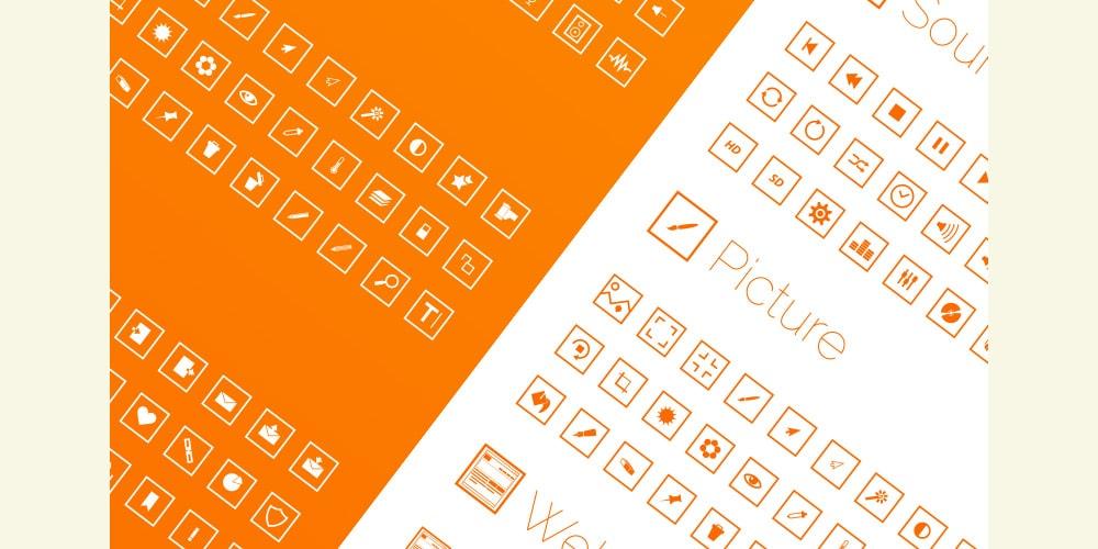 Free Square Icon Set