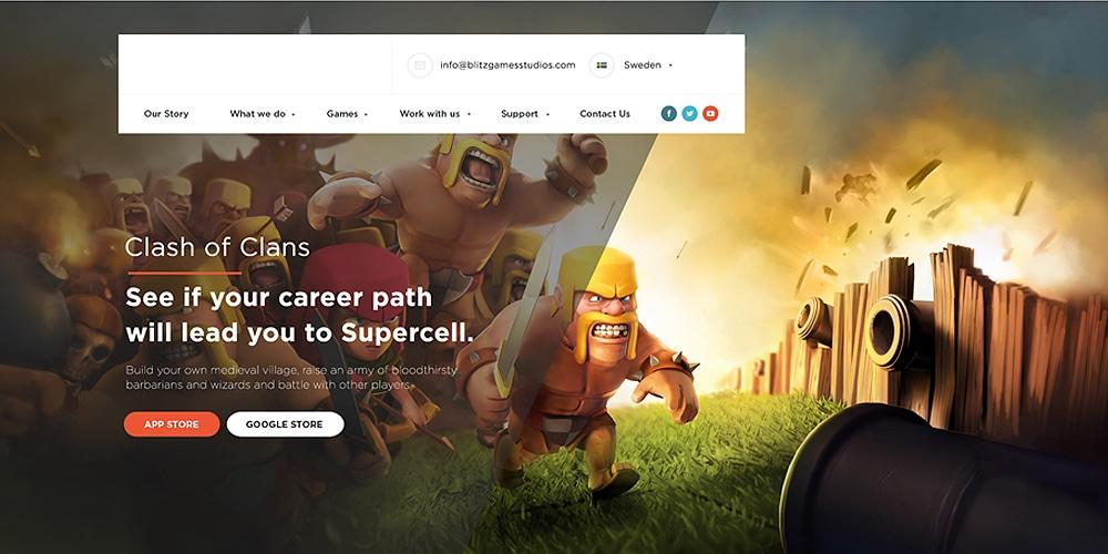 Gaming Landing Page PSD