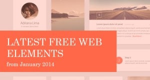 Latest Free Web Elements from January 2014