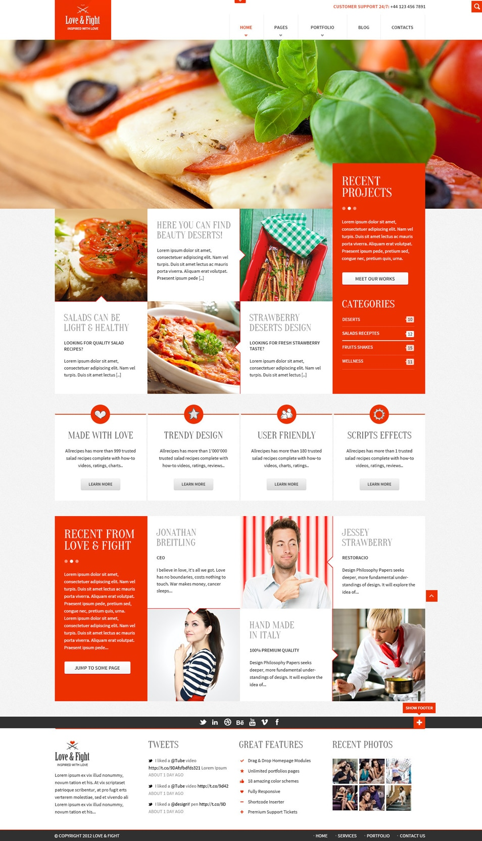Love and Fight – Free PSD Web Template