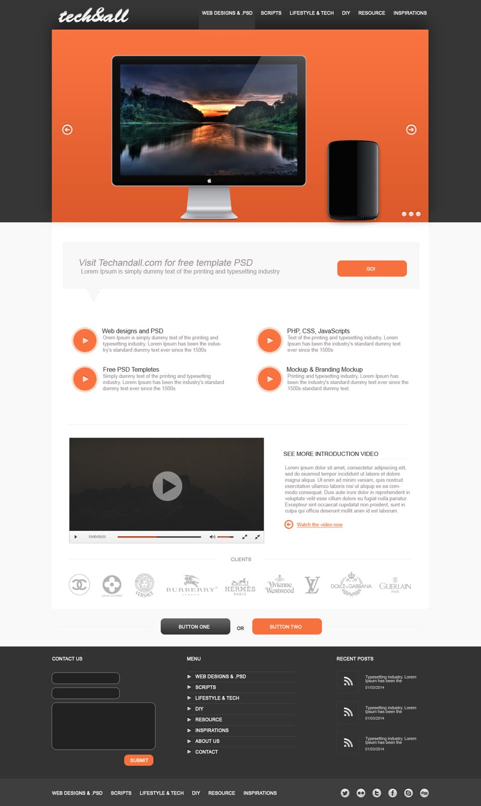 Multi purpose PSD Template