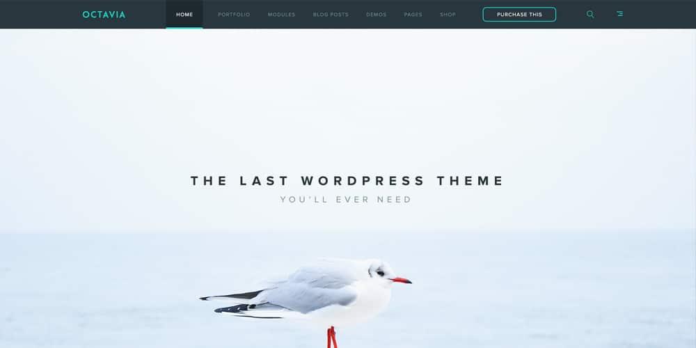 Octavia Free Landing Page PSD