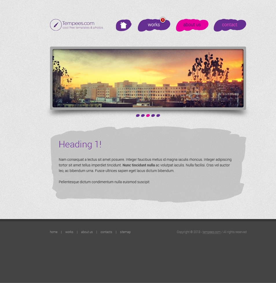Paint website landing page