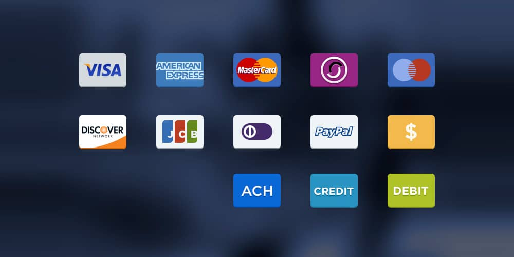 Payment Options Icons PSD