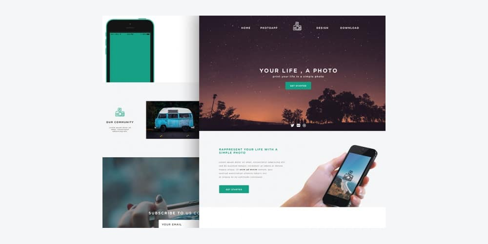 Phototime Free Website Template PSD