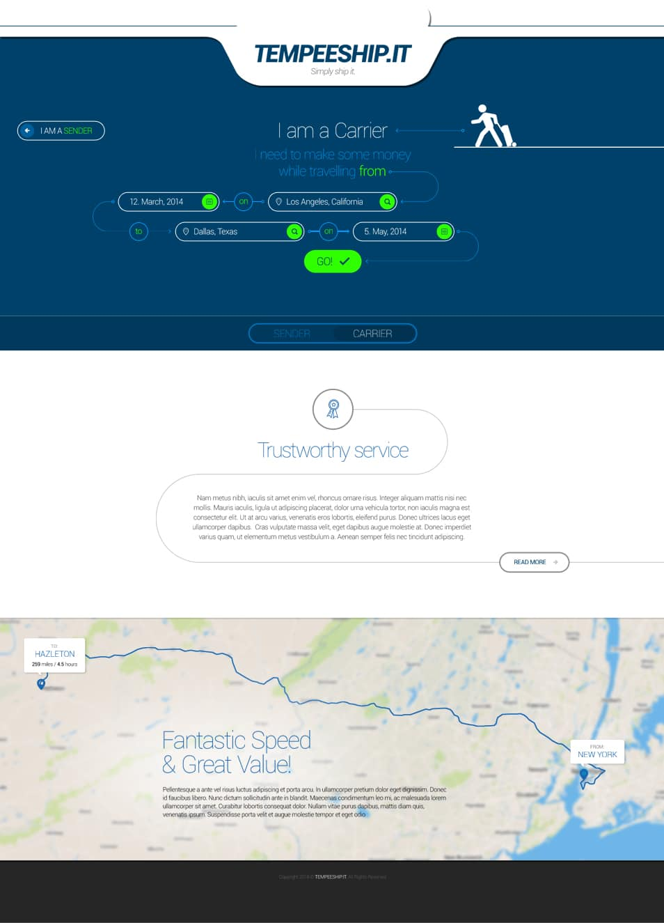 Shipping Service Landing Page