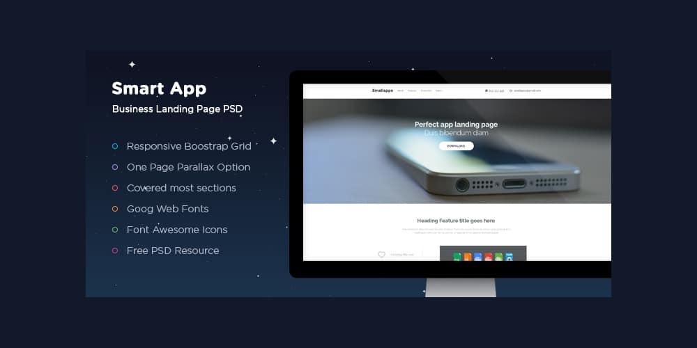 Smart-App-Landing-PSD