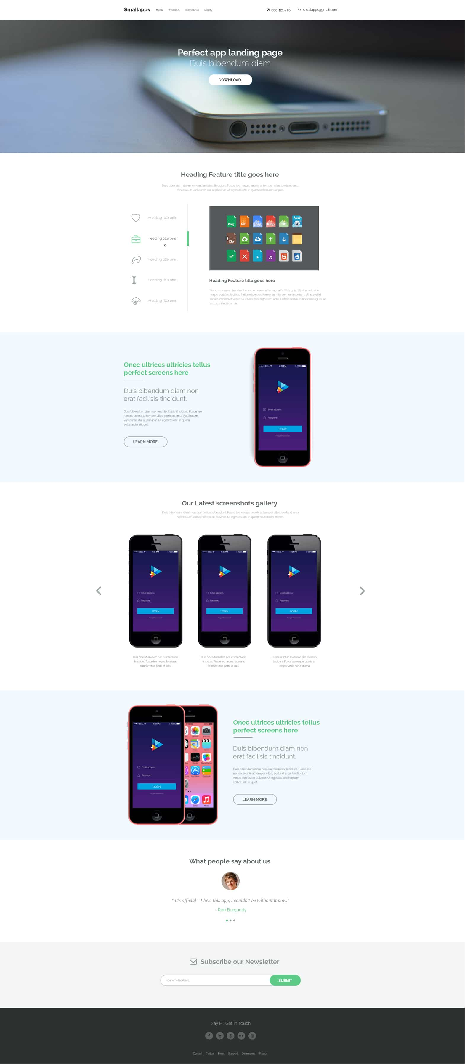Smart App Landing PSD