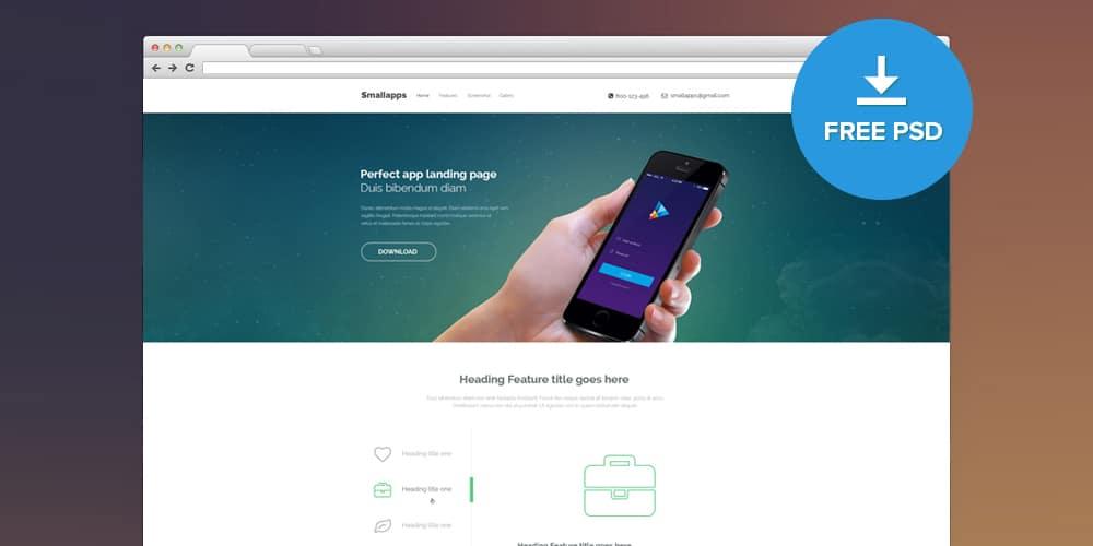 Smart App Landing Page PSD