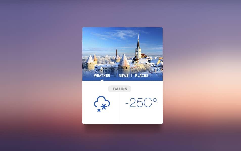 Tallinn Widget PSD